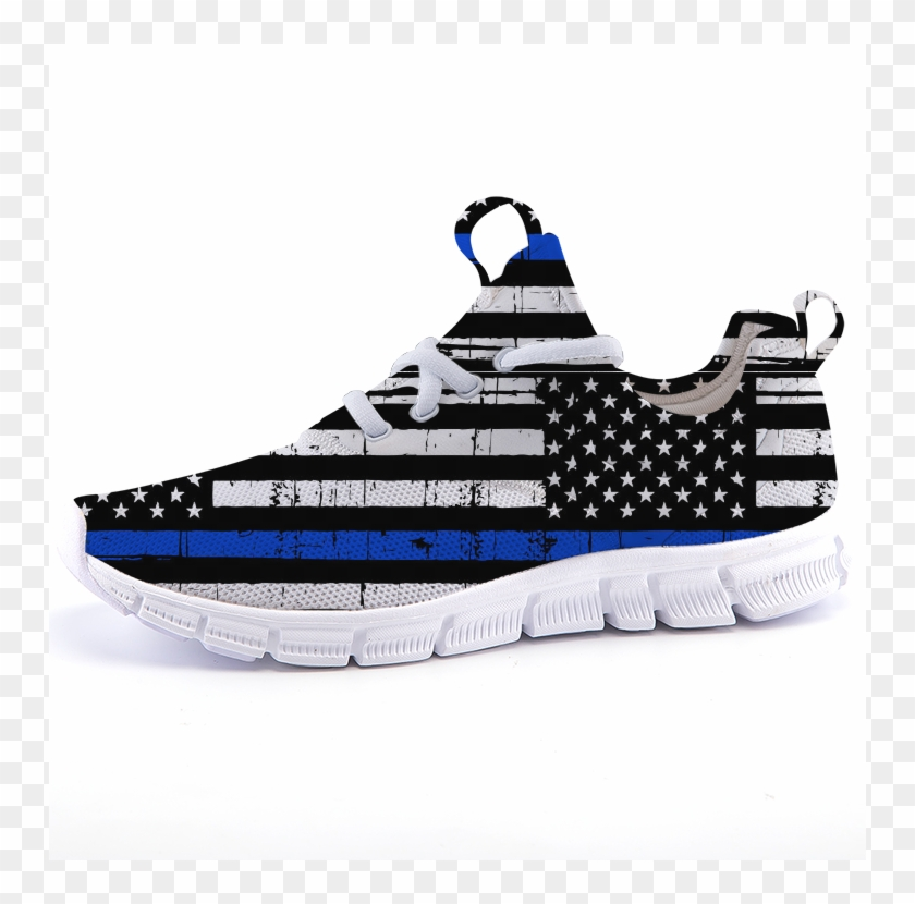 Thin Blue Line Flag Running Sneakers