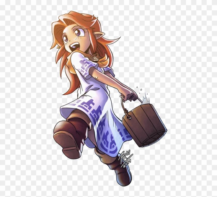 The Legend Of Zelda - Ocarina Of Time Malon Link, HD Png