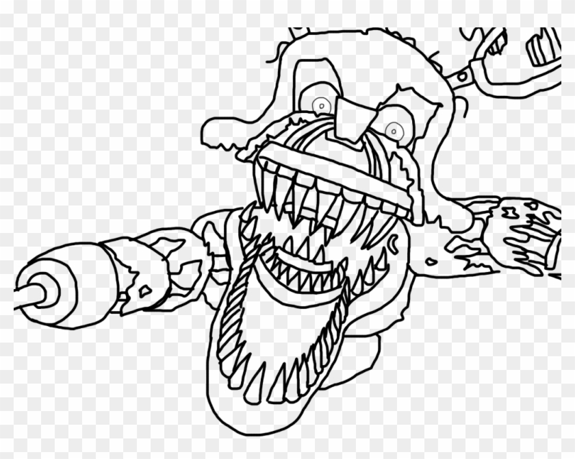 Nightmare Foxy Coloring Pages 3 By Susan Nightmare Foxy Coloring Page Hd Png Download 1024x768 4787601 Pngfind