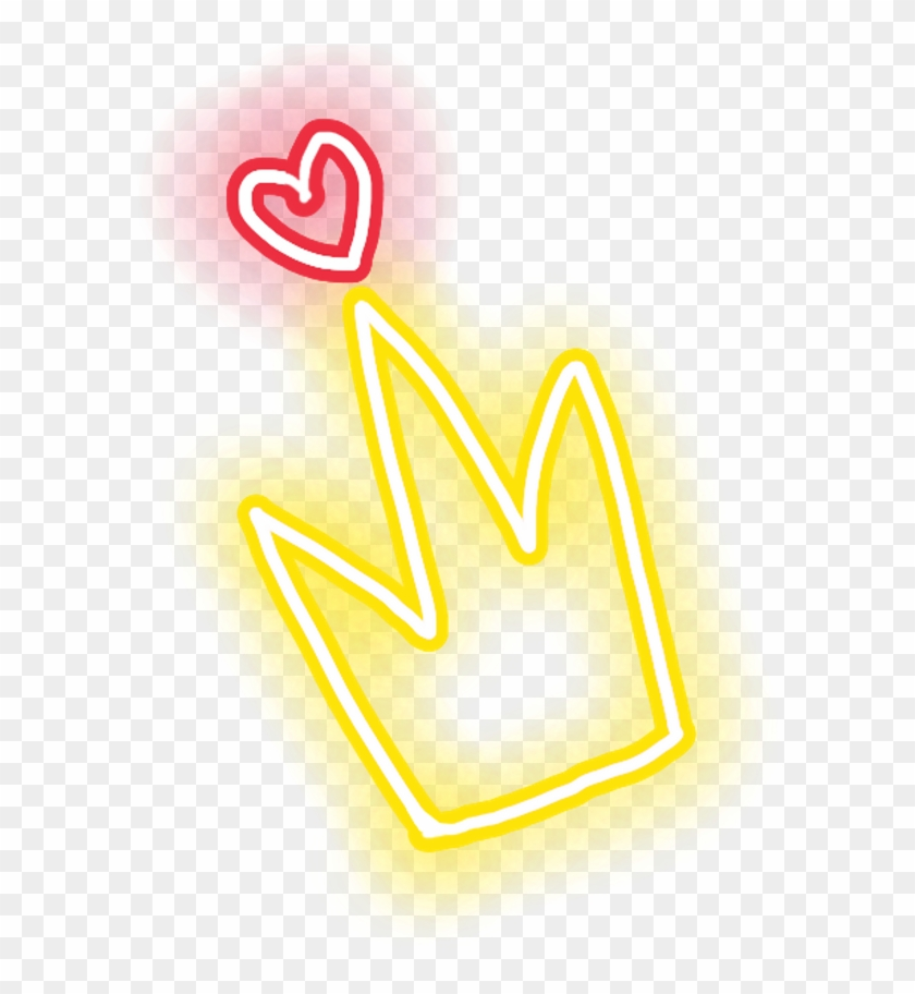 Glow Sticker Heart Crown Glowsticker Freetoedit Neon Sign Hd Png Download 592x832 4791130 Pngfind