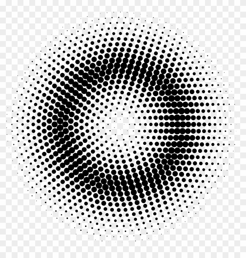Dots Png For Free Download On - Halftone Pattern Circle Png
