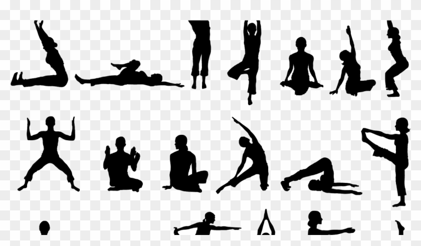 People Silhouette Png Exercising Png Download Yoga Action Transparent Png 1174x631 4813981 Pngfind