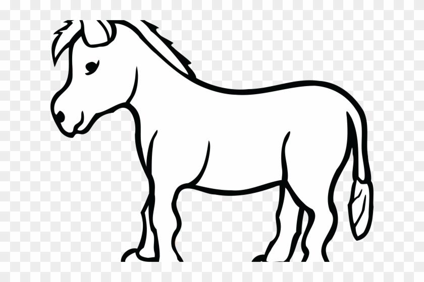 Donkey Clipart Outline - Black And White Donkey Clip Art ...
