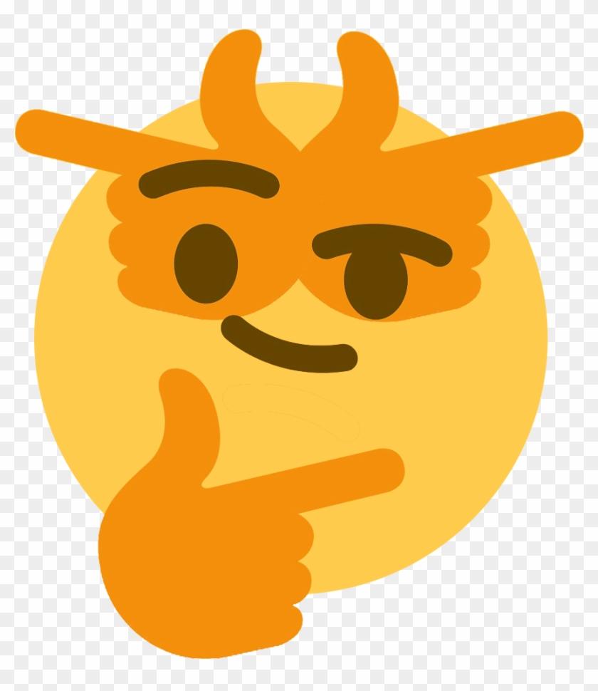 Thinking Emojis - Transparent Background Thonk Discord Emoji