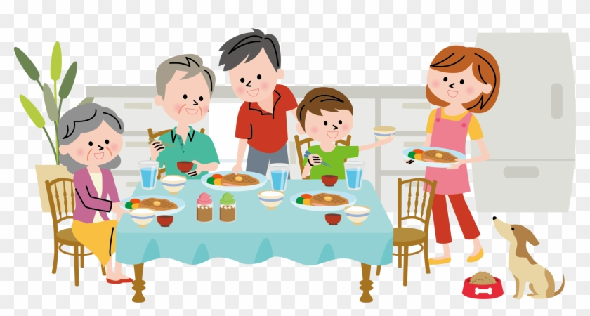 19 Family Dinner Vector Royalty Free Library Huge Freebie ...