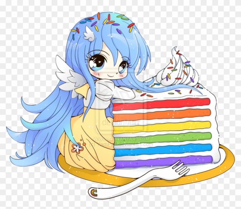 Chibi Clipart Food Anime Chibi Girl Cake Hd Png Download