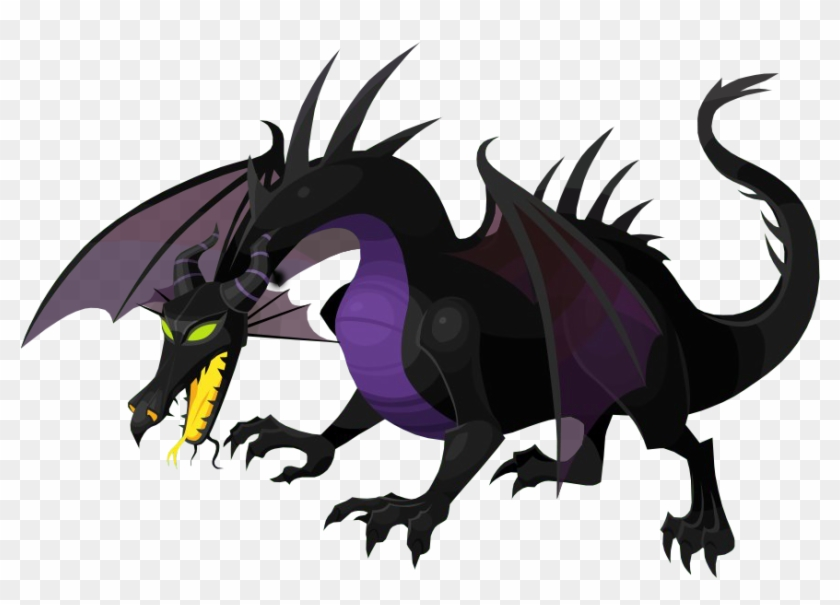 Maleficent Dragon Illustration Hd Png Download 917x630