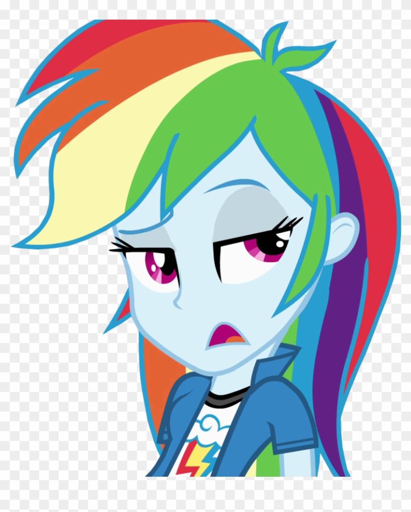 - Mlp Rainbow Dash Equestria Girls Vector, HD Png Download - 827x965