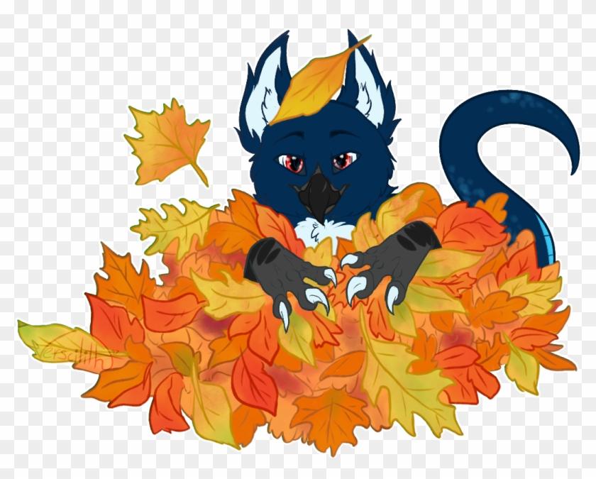 Spark Leaf Pile Ych Leaf Pile Cartoon Hd Png Download 1100x800 4887549 Pngfind