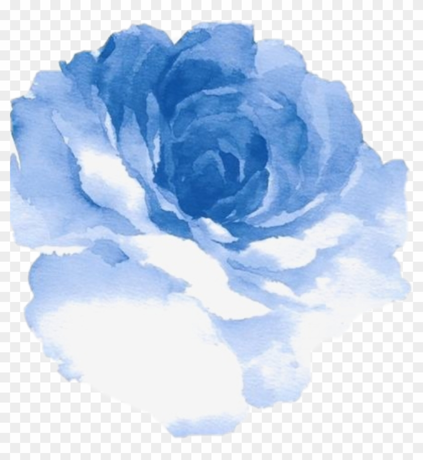 Watercolor Blue Flowers Blue Watercolor Flower Png