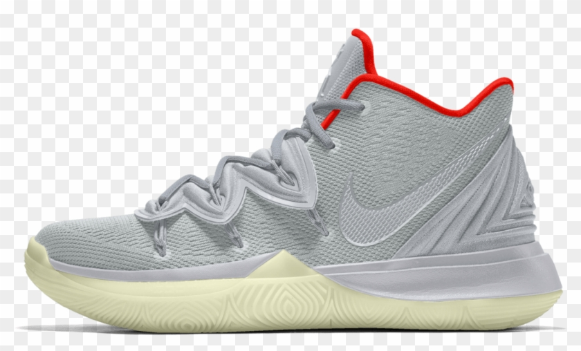 "54af05f2c0d1b Nike Kyrie 5 ""pure Platinum Yeezy"" By You - Sneakers, HD Png Download"