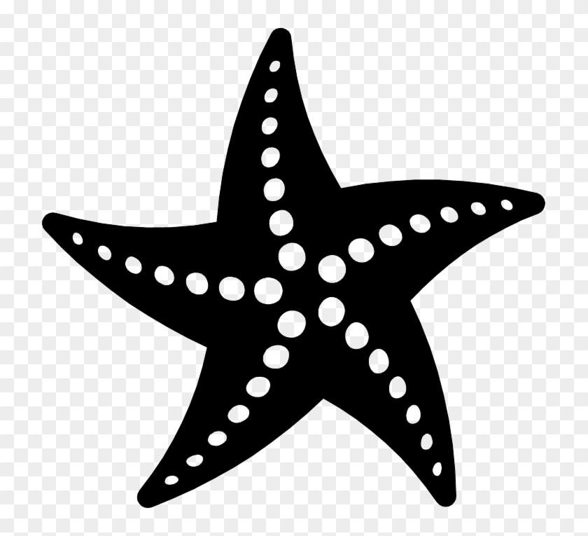 Starfish black. Png and white vector