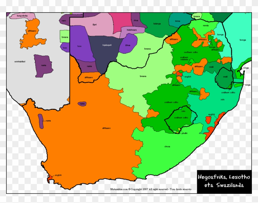 language map of south africa South Africa South Africa Language Map Hd Png Download language map of south africa