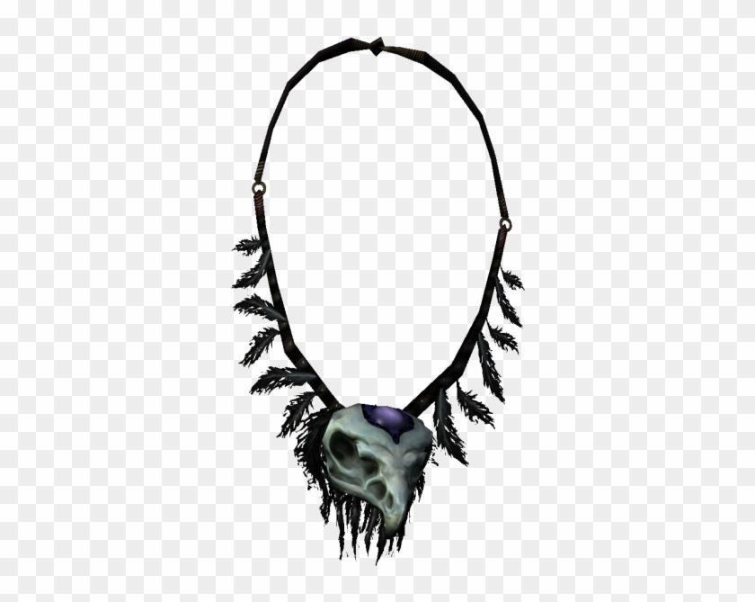 Skyrim Unique Items Bone Hawk Necklace - Amulet, HD Png