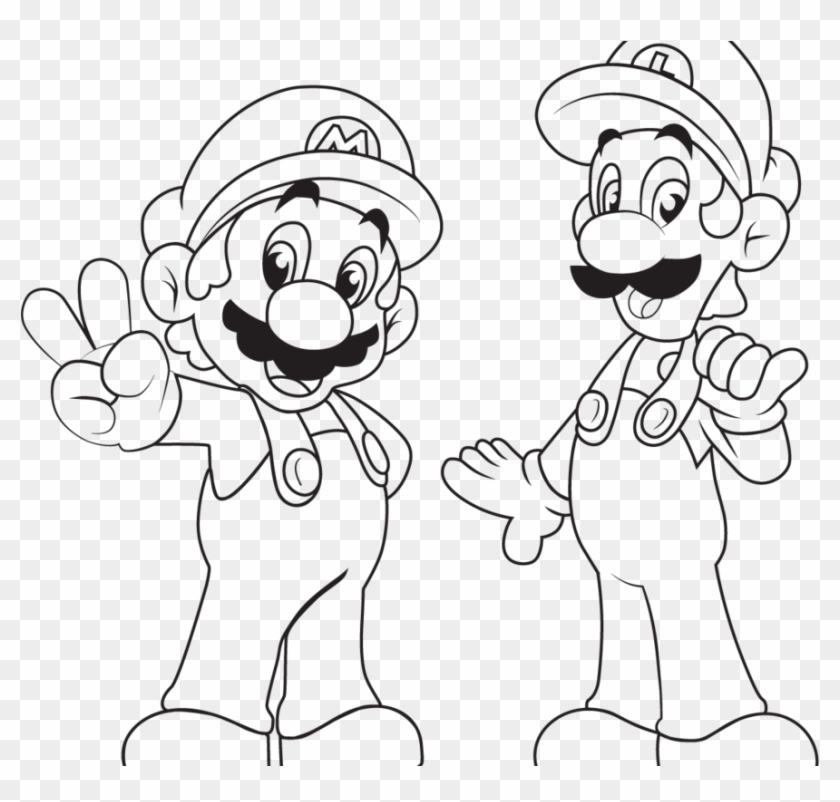 Mario Brothers Coloring Pages Halloween Luigi Toad Mario And