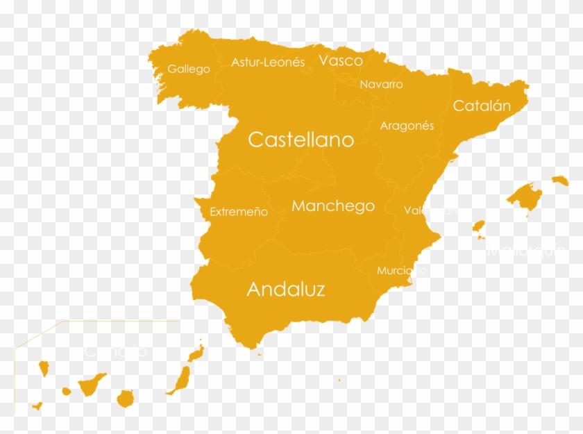 Map Of Spain La Mancha.Spanish Accents Map Diverbo Puebloespanol Castilla La Mancha Karta