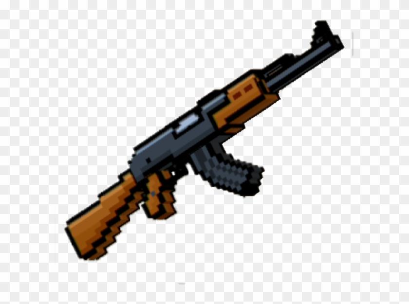 1 / - Pixel Gun 3d Mini Ak, HD Png Download - 640x579