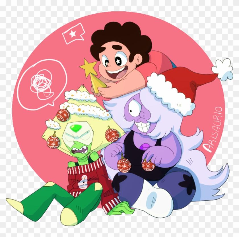 Garnet Stevonnie Connie Red Pink Cartoon Vertebrate Peridot Christmas Steven Universe Hd Png Download 954x901 4985355 Pngfind