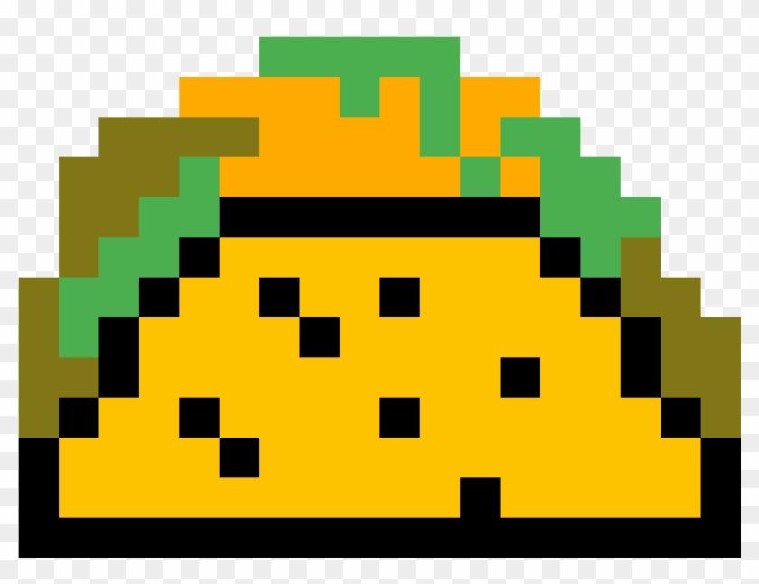 Taco By Iancs2028 Kawaii Pixel Art Grid Easy Hd Png