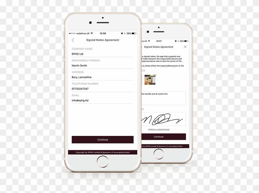 Signed Notes Jobsheet App - Iphone, HD Png Download