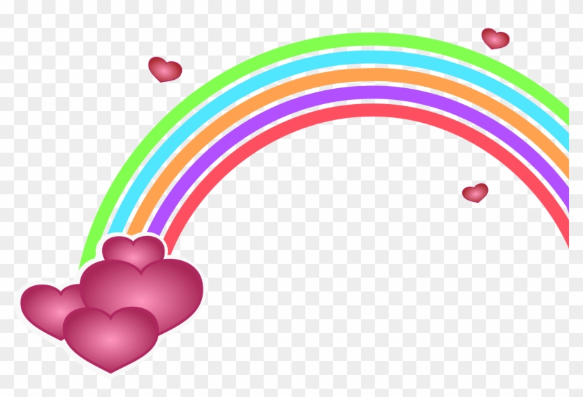 Hearts rainbow. Png free download with