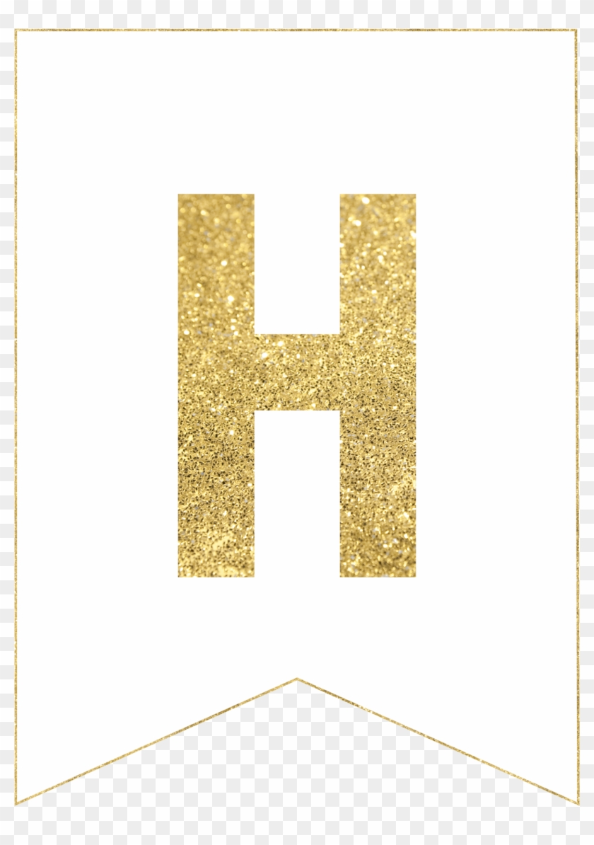 photo relating to Printable Banner Letters called Gold Absolutely free Printable Banner Letters - Gold Glitter History