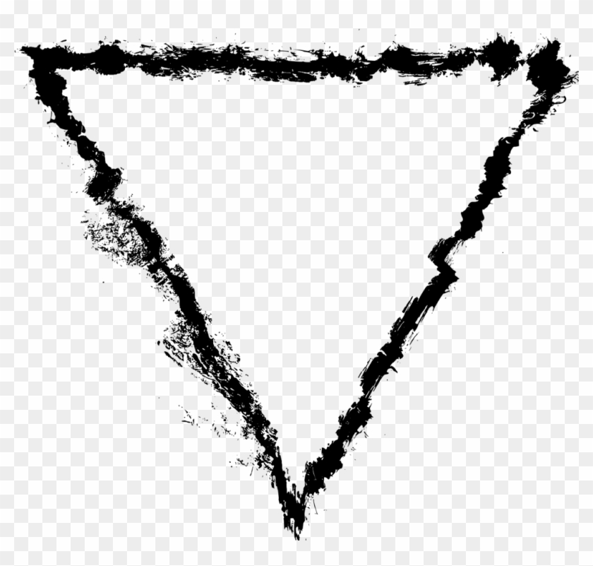 Triangle Sticker - Heart, HD Png Download - 1024x928(#54960
