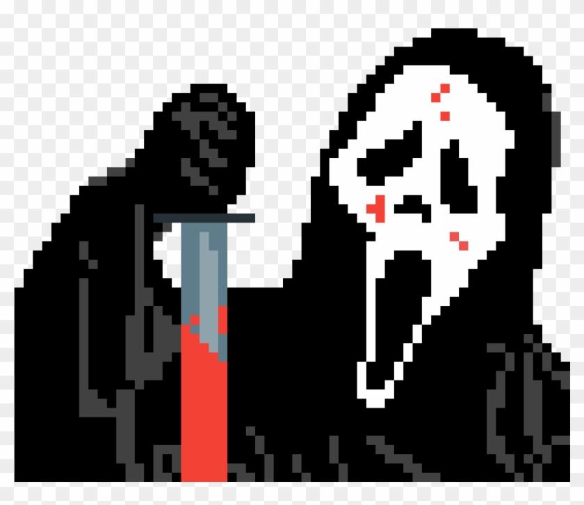 Scream Pixel Art Grid Easy Hd Png Download 1200x1200 55657 Pngfind