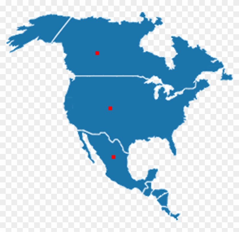 North America, South America - Map Gray North America, HD Png ...