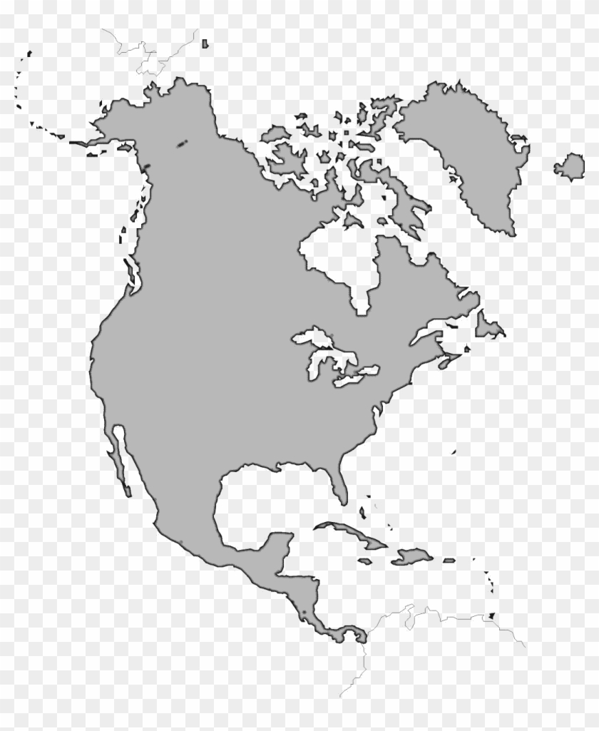 graphic relating to North America Printable Map referred to as North The us Map Png Graphic - Blank North The united states Map No