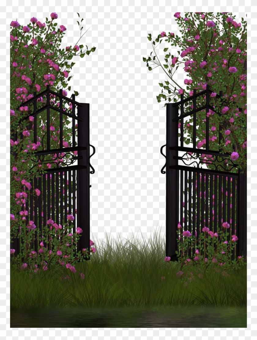 Entrance To Rose Garden By Collect And Creat Png Background Hd Flowers Garden Transparent Png 774x1032 502269 Pngfind