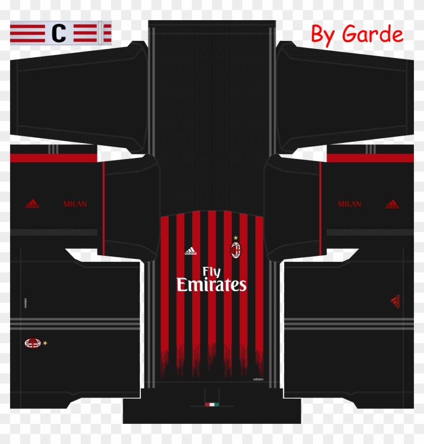 competitive price 686df 727ad Milan 16/17 - Kit De Milan Para Dream League Soccer, HD Png ...