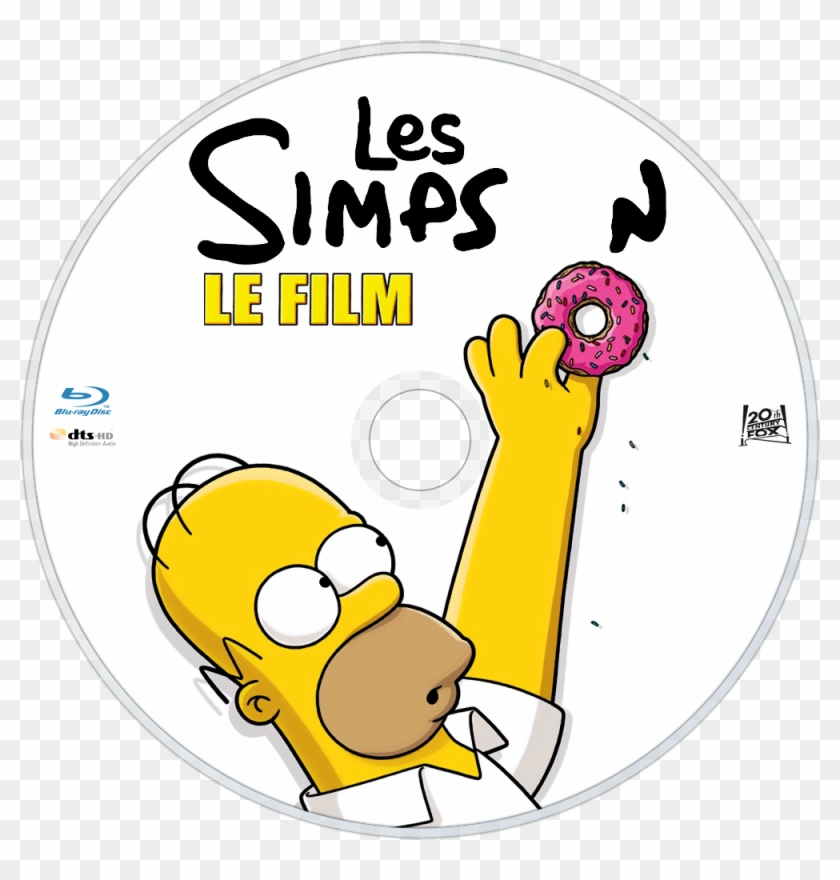 The Simpsons Movie Bluray Disc Image Los Simpson La Pelicula Blu Ray Hd Png Download 1000x1000 5016729 Pngfind