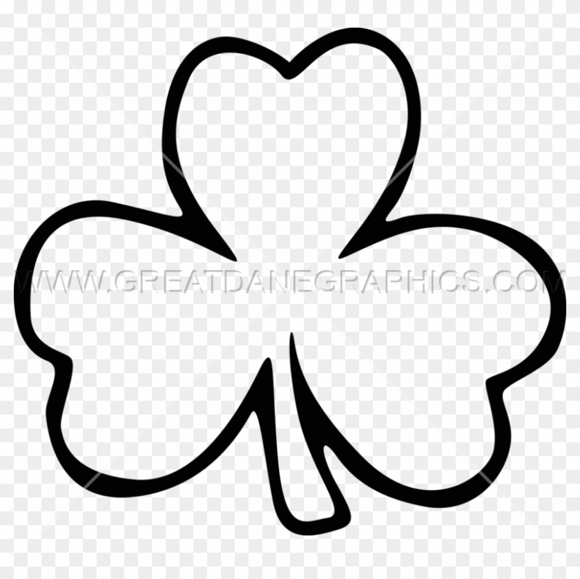 Large Printable Shamrock Template, HD Png Download - 825x758(#5019567) -  PngFind
