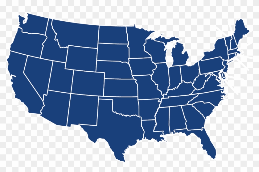 United States Map Transparent Background Hd Png Download - Us-map-transparent-background