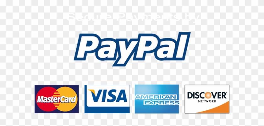 Pay With Paypal Logo - Paypal Visa Mastercard American Express