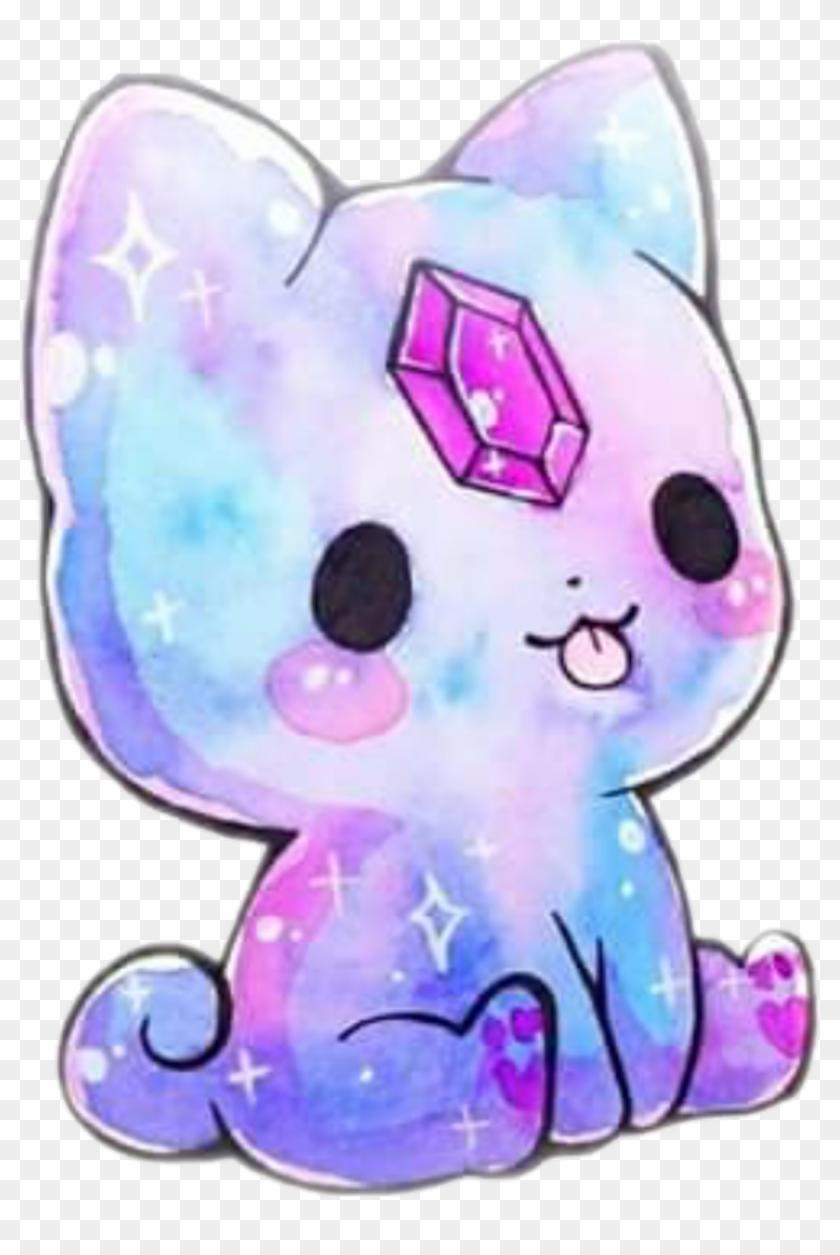 505 5050863 colorful kitty catstickers kawaii galaxy sweet kawaii