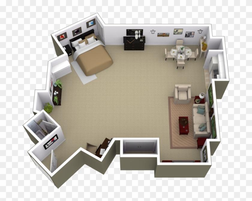 1 Bedroom Apartments Near Me - Park La Brea One Bedroom, HD