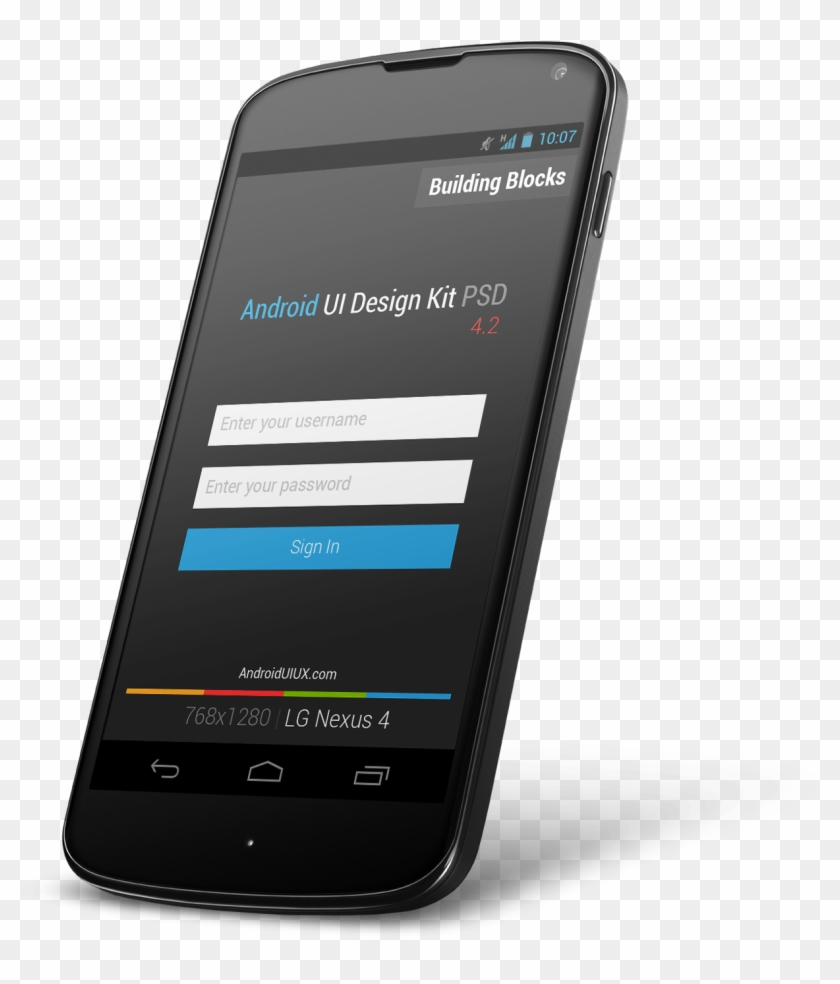 Android Ui Design Kit Psd 4 2 Free Download Android - Android Mobile