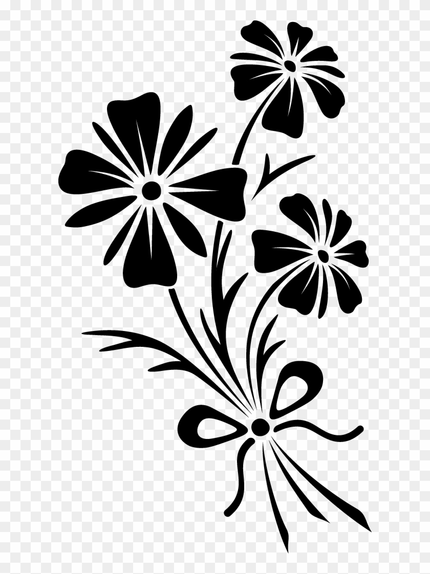 Flower black and white vector. Flowers vectors hd png