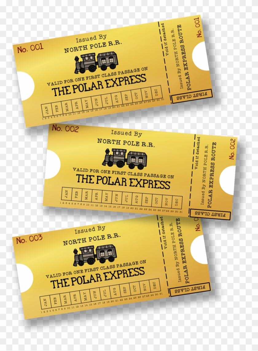 graphic regarding Printable Polar Express Ticket identified as Host A Polar Specific Get together This December With - Free of charge