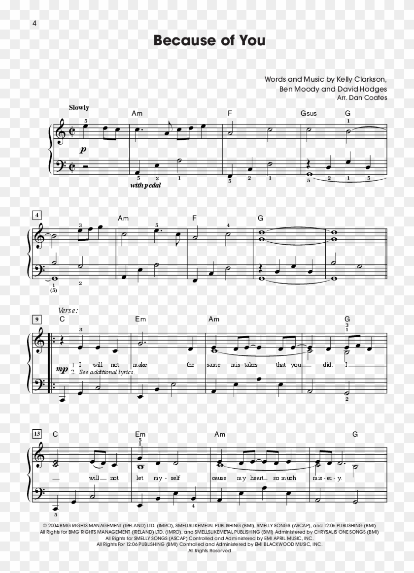 Easy Piano Sheet Music With Letters The Giant Book - Won T