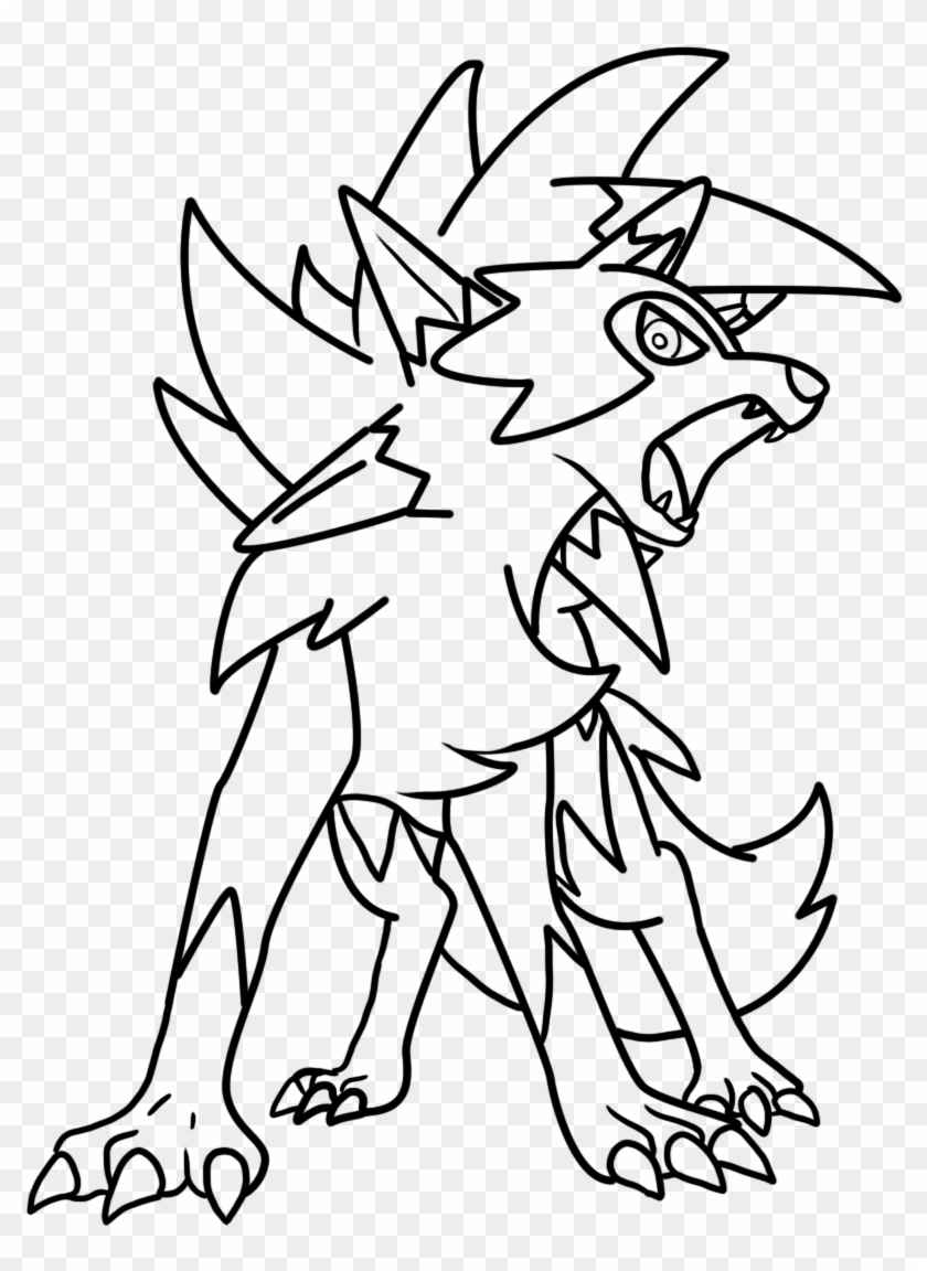 Collection Of Lycanroc High Quality Free Lycanroc Pokemon Coloring