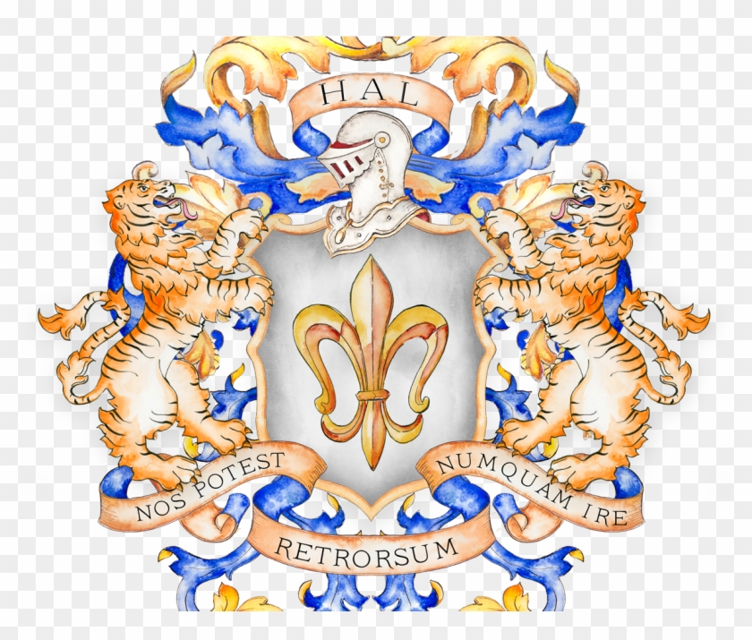 Hal Family Crest - Tiger Coat Of Arms, HD Png Download - 1200x938