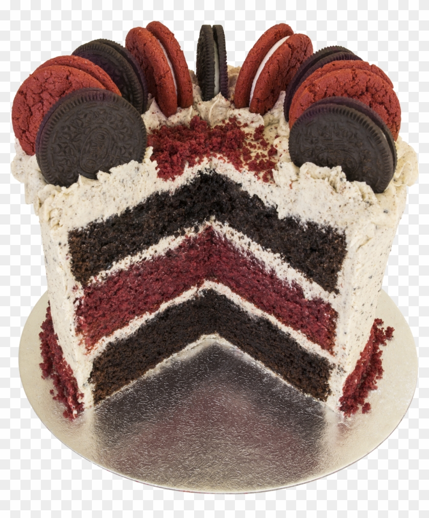 Cool Chocolate And Red Velvet Birthday Cake Hd Png Download Funny Birthday Cards Online Kookostrdamsfinfo
