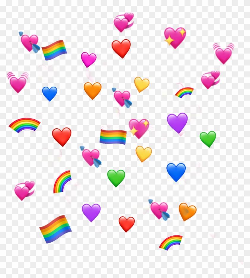 Corazones Corazon Banderita Lgbt Arcoiris Heart Emoji Meme
