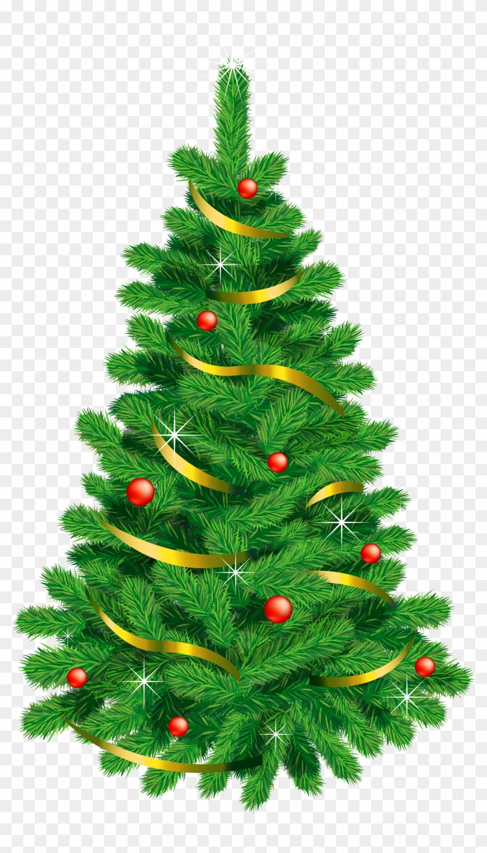View Transparent Christmas Tree Cartoon Png Images