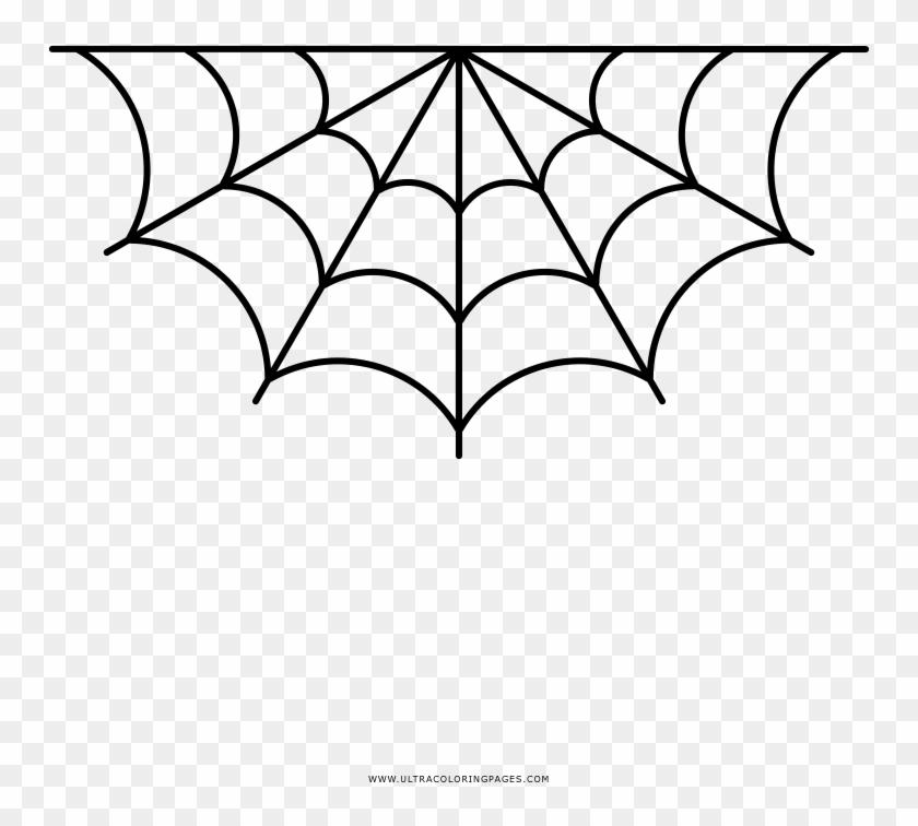 Spiderweb Coloring Page Corner Spider Web Vector Hd Png