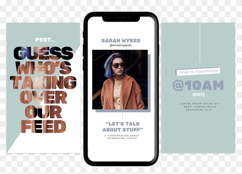 Instagram Story Takeover Template - Iphone, HD Png Download