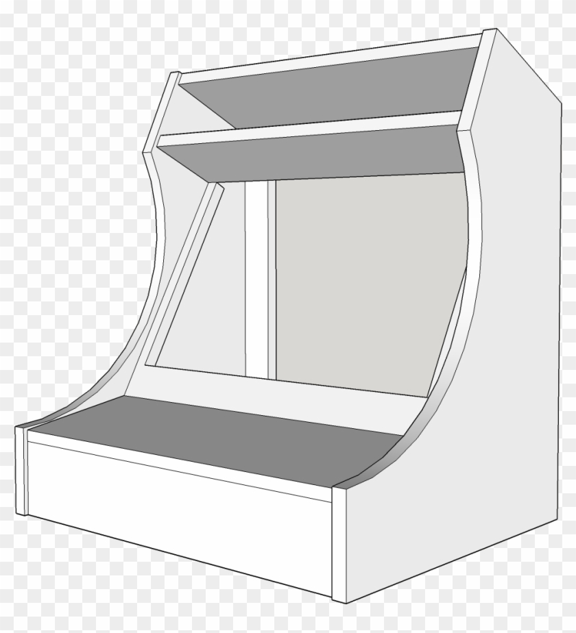 Bartop Arcade Cabinet Plans 189263 - Architecture, HD Png
